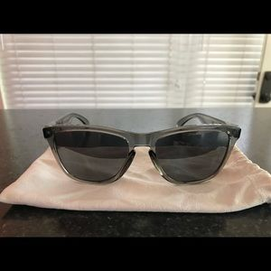 Brand new Oakley frog skin sunglasses with case.